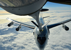 Refueling Plane Mid Flight