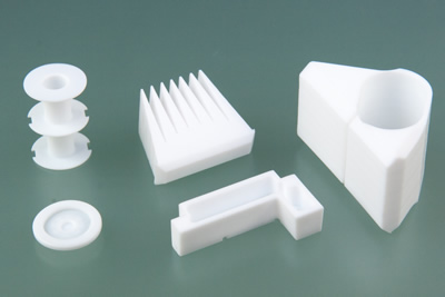 Teflon® (PTFE) machined parts by Upland Fab
